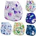 New Modern Bolso Fraldas de Pano Do Bebê Um Tamanho Cabe Tudo para bebês NB a 13kgs (com 1 PCS De Bambu Fraldas)