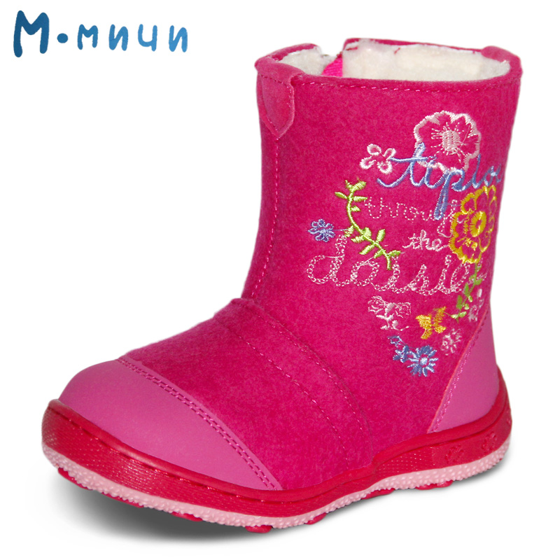 MMNUN Russian Famous Brand Wool Felt Shoes High Quality Children Winter Boots for Girls Made of Sheepskin Snow Boots Baby Shoes sulee brand autumn winter mens heavyweight stretch denim jeans casual fit loose relax trousers pants plus size 42 44
