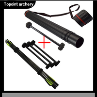 Archery Arrow Quivers Adjustable Tube + Intert Arrows Holder Separator Foam Rack Insert fit up to Tube Quiver Case