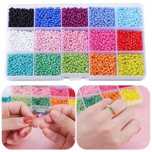 Разноцветные стеклянные бусины 3 мм, мини-бусины для изготовления украшений, ожерелий, браслетов, сережек, подарков, поделок, для детей и взр...