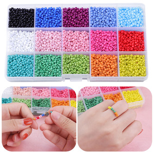 Kolorowe koraliki 3mm szklane koraliki Pony Mini koraliki do wyrobu biżuterii naszyjniki bransoletki kolczyki prezent DIY Craft dla dzieci dla dorosłych