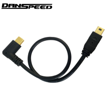 DANSPEED Mini USB Cable 5 Pin Male to Male USB 3.1 Type C to Mini OTG Data Cable Adapter Converter Charging Cable Length 25cm