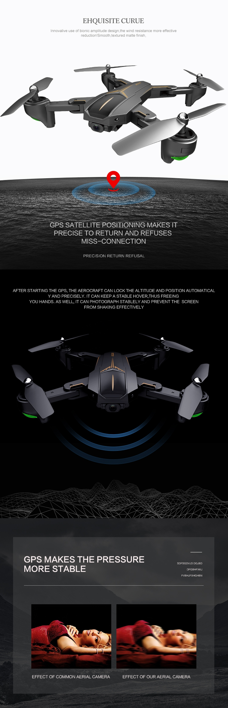 VISUO XS812 GPS Foldable RC Drone Quadcopter