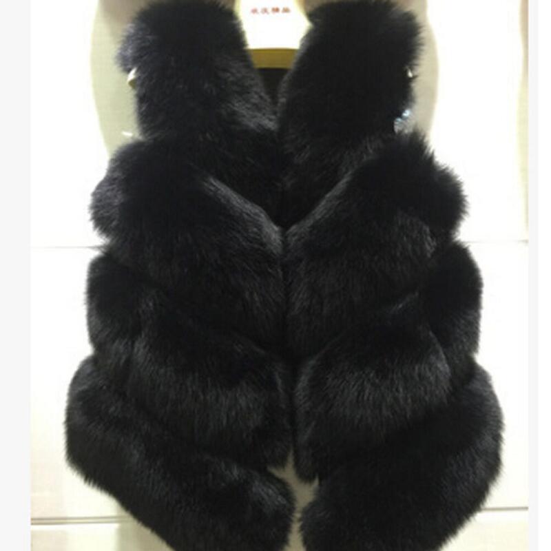 En Noir gris 3xl Chaud S D'hiver De Fausse Haute Fourrure Rose Taille Grande ardoisé 2018 Femmes Nouvelle Msaiss Blanc Gilet Rouge noir Qualité Veste lavande Manteau Mode TSWZc0Pq