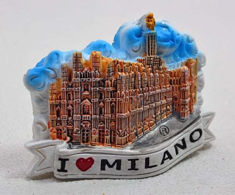 Handmade Painted Milan Cathedral 3D Fridge Magnet World Travel Souvenir Refrigerator Magnetic Stickers Home Decoration