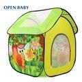 Open baby venda quente casa grande jogo tenda criança indoor & outdoor multi-função as crianças brincam tenda brinquedo