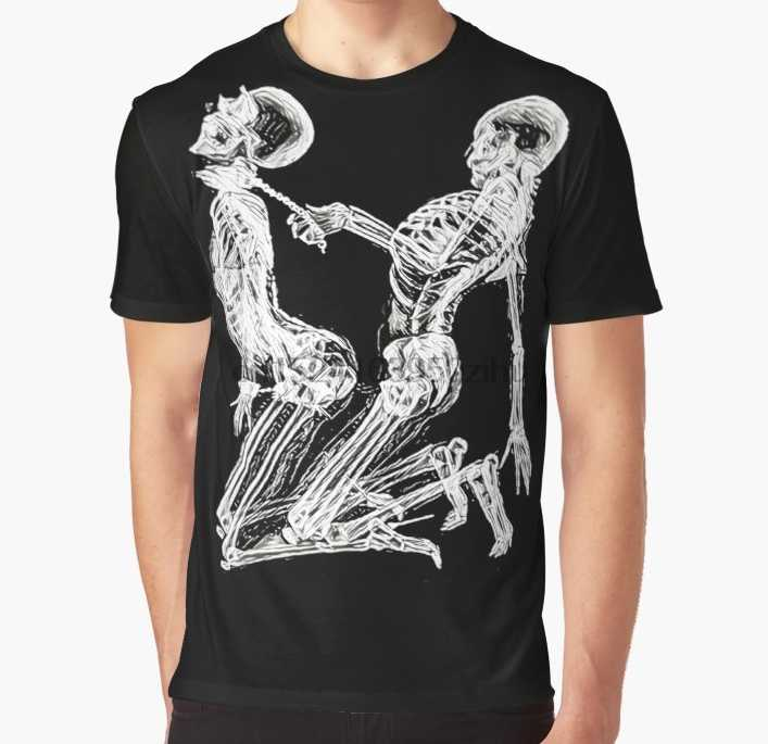 90d3d468137 All Over Print T Shirt Men Funny tshirt Skeleton Kinky Sex Graphic T-Shirt