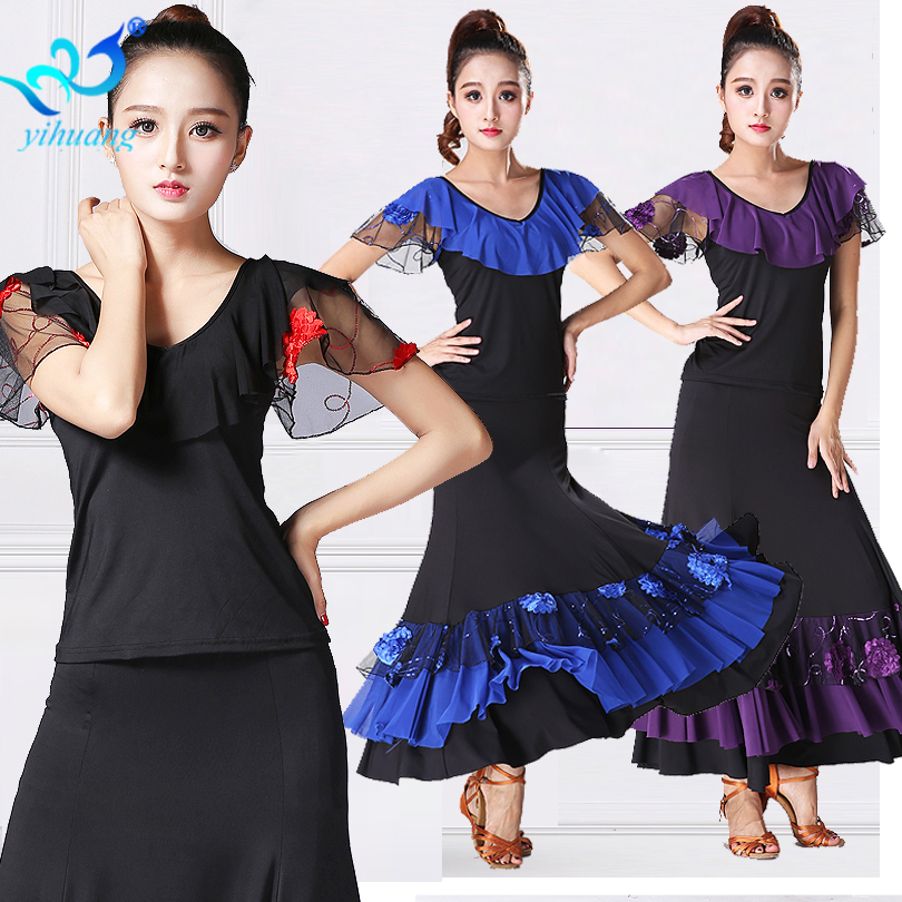2 stks Set Flamenco Kostuum Pak Set Dames Ballroom Danser Outfits - Nieuwe items