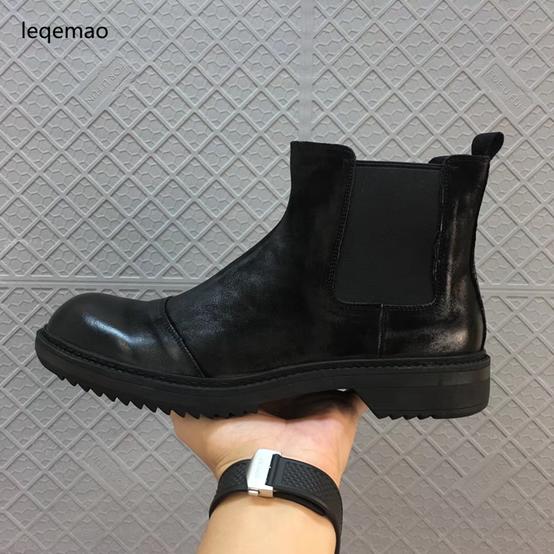 Hot Sale Winter Warm Fur Inside Luxury Men Boots Comfortable Round Toe brand Man Casual Shoes Genuine Leather Ankle Boots 38-44 hot sale men basic black winter warm fur shoes high top nuduck genuine leather luxury brand ankle snow boots flats size 38 44