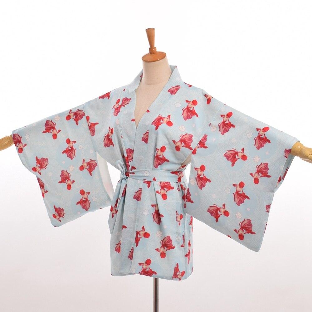 ₪Japón estilo Ponyo kimono coat mujeres dulce casual impreso haori ...