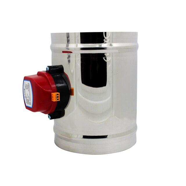 80/100/125/150/200 millimetri in acciaio inox elettrico serranda condotto di aria valvola HVAC canalizzazione dellaria motorizzato serranda aria AC220V di ventilazione
