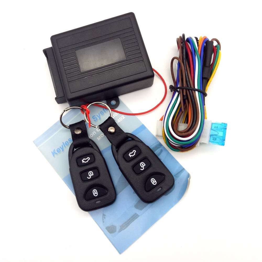 Car Remote Central Kit Door Lock Locking Vehicle Keyless Entry System  Remote Controllers Car alarm System w/Retail Packaging
