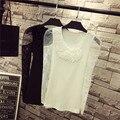 Suff Snowlake Primavera Otoño Nueva Marca Mujeres Vintage Lace Delgado Stretch Camiseta PS218020