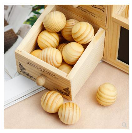 Wardrobe moisture-proof wooden ball househod wooden mottenballen zapach do szafy makeup organizer box