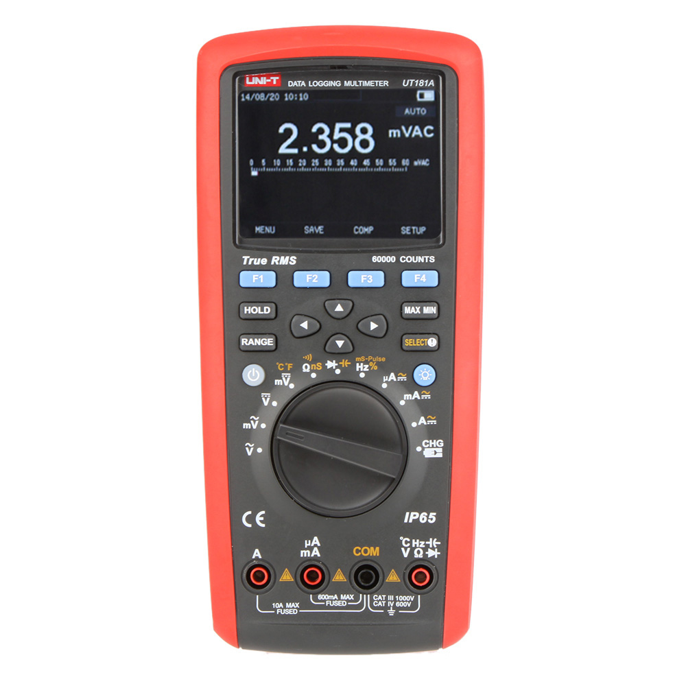 Uni-T UT181A Digital Multimeter True Rms Tester Datalogging DMM Cap Temp Meter UT-181A цена
