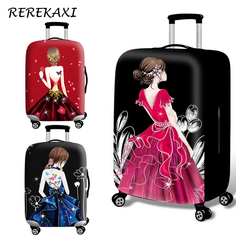Suitcase Skirt Luggage Cover 18-32 Inch Trolley Baggage Elastic Protection Cover Trunk Case Covers Travel Accessories