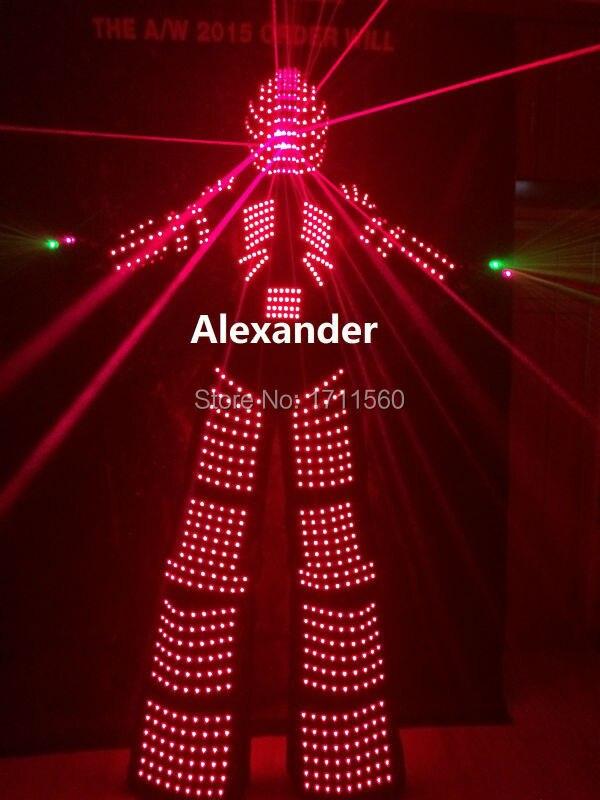 nový led robotský kostým / led světla na oděvy / lehké obleky / LED robotické obleky