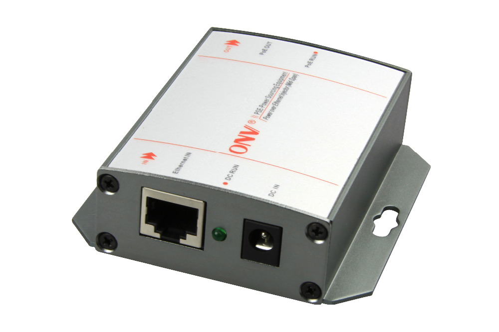 100M single port super high power PoE injector Compatible with IEEE802 3af IEEE802 3at single port