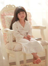 100 Cotton Princess Pijamas Long White Nightdress Girl s Nightgown 100 Cotton Sleepwear girls Lolita princess