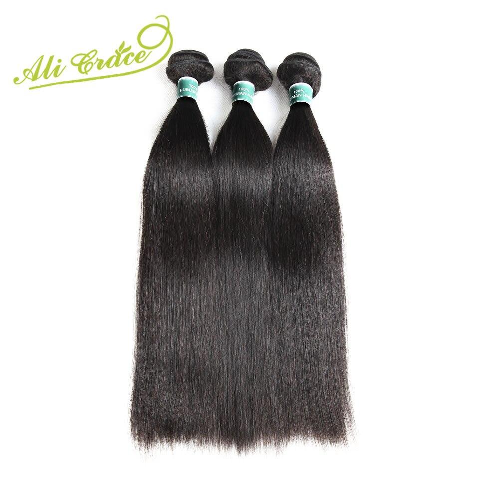 ALI GRACE włosów malezyjski proste włosy ludzkie 3 zestawy Deal doczepy z włosów typu remy naturalny kolor 10 28 cal wyplata darmowa wysyłka w 3/4 pasma od Przedłużanie włosów i peruki na AliExpress - 11.11_Double 11Singles' Day 1