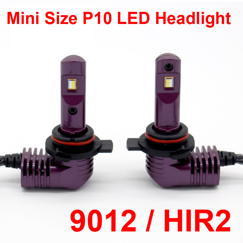 1 Set Super MINI SIZE CSP CHIPS 9012 HIR2 P10 LED Headlight All-in-one As 1:1 Original Lamps Turbo Fan Focus Beam 35W 5200lm 6K