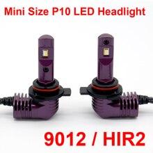 1 комплект супер мини размер CSP чипы 9012 HIR2 P10 светодиодный фар Все-в-одном как 1:1 оригинальные лампы Turbo вентилятор фокус луча 35 W 5200lm 6 K