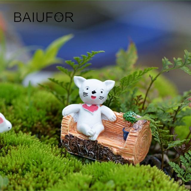 Arbre Tabouret Chat Figurine, mignon Miniature pour Mini Jardin ...