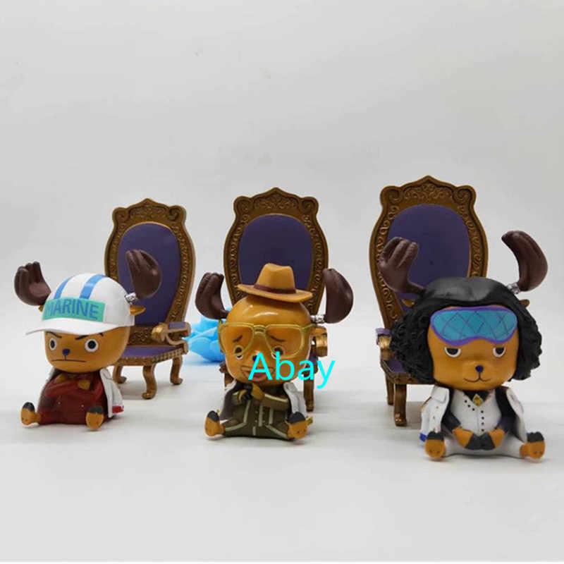 3 цвета один кусок Тони Чоппер соломенная шляпа Пираты Косплей Kuzan Sakazuki Borsalino версии ПВХ фигурка игрушка J91