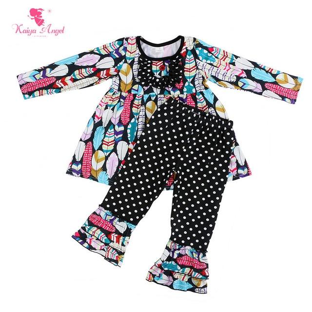 3177221e2e47 Kaiya Angel 2017 Hot Baby Girl Boutique Outfits Children Sets ...