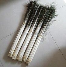 מכירה לוהטת! 800 יח\חבילה טווס נוצת גזע 60cm ארוך קוטר 5 5.5mm גבעולים על צף
