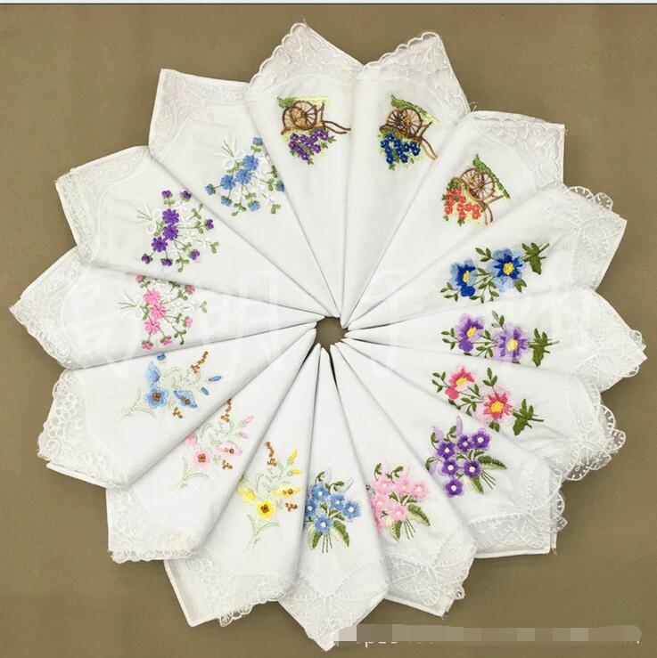 Nueva 10 unids 100% algodón Pañuelos cuadrados pañuelos de la ...