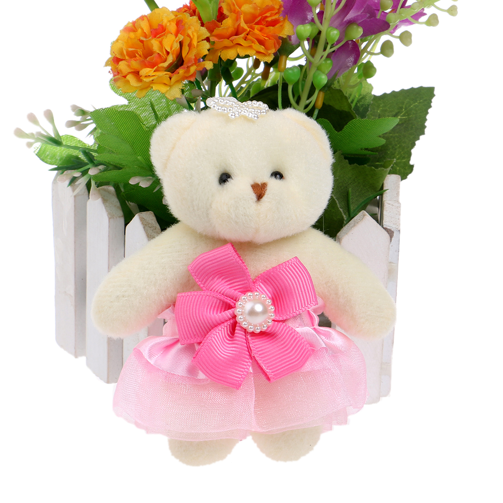 Flower Bouquets Teddy Bear Baby Girl Toys Cartoon Kids Animal