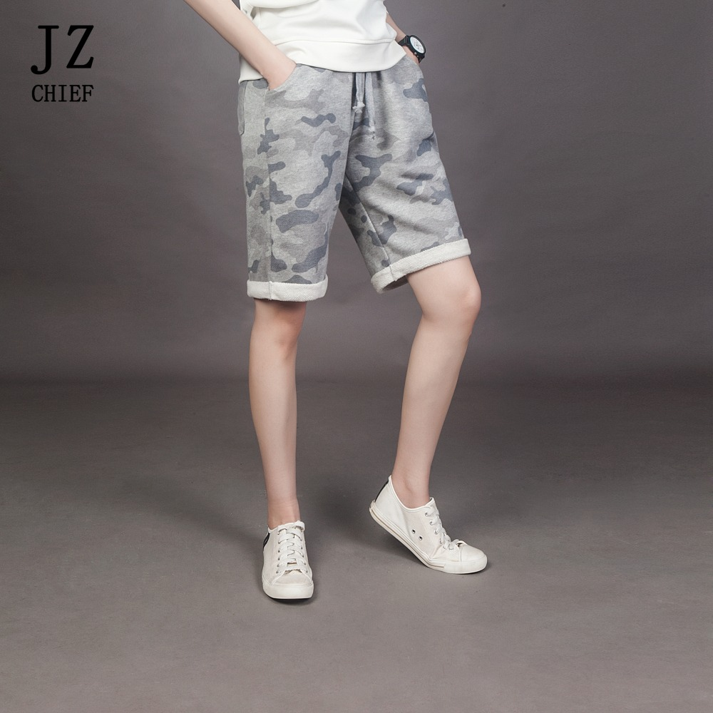 JZ CHIEF Cotton Summer New Fashion Mens Shorts Men Casual Print Camouflage Short Pants Cargo Beach Shorts Gray Plus Size 8XL
