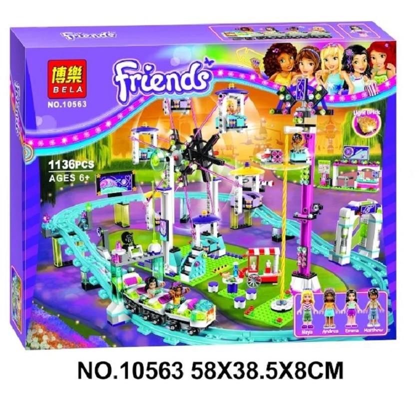 Image 2 - Bela 10563 1136pcs Friends Series Amusement Park Roller Coaster Model Building Blocks Bricks Playgame Toys For Children 41130-in Blocks from Toys & Hobbies