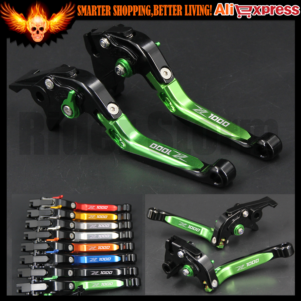 For Kawasaki Z1000 2003 2004 2005 2006 Motorcycle Brake Clutch Levers CNC Adjustable Folding Extendable Green Red 8 colors adjustable folding extendable brake clutch levers for kawasaki versys 1000 w800 zzr1200 zrx1100 1200 8 colors