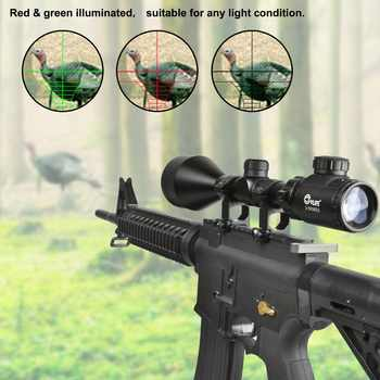 CVLIFE 3-9X56 E Rifle Scope Red and Green Mil-dot Illuminated Hunting Optics with Free 20mm Mounts Hunting
