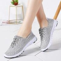 Women Running Shoes Summer Breathable Weaving Sneakers Walking Black Shoes Women Outdoor Sport Light Weight Run Running Shoes