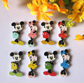 150pcs/lot bulk Mickey Mouse 2 Holes natural Wooded Buttons Mixed Scrapbook  cartoon loose buttons craft Sewing accessories