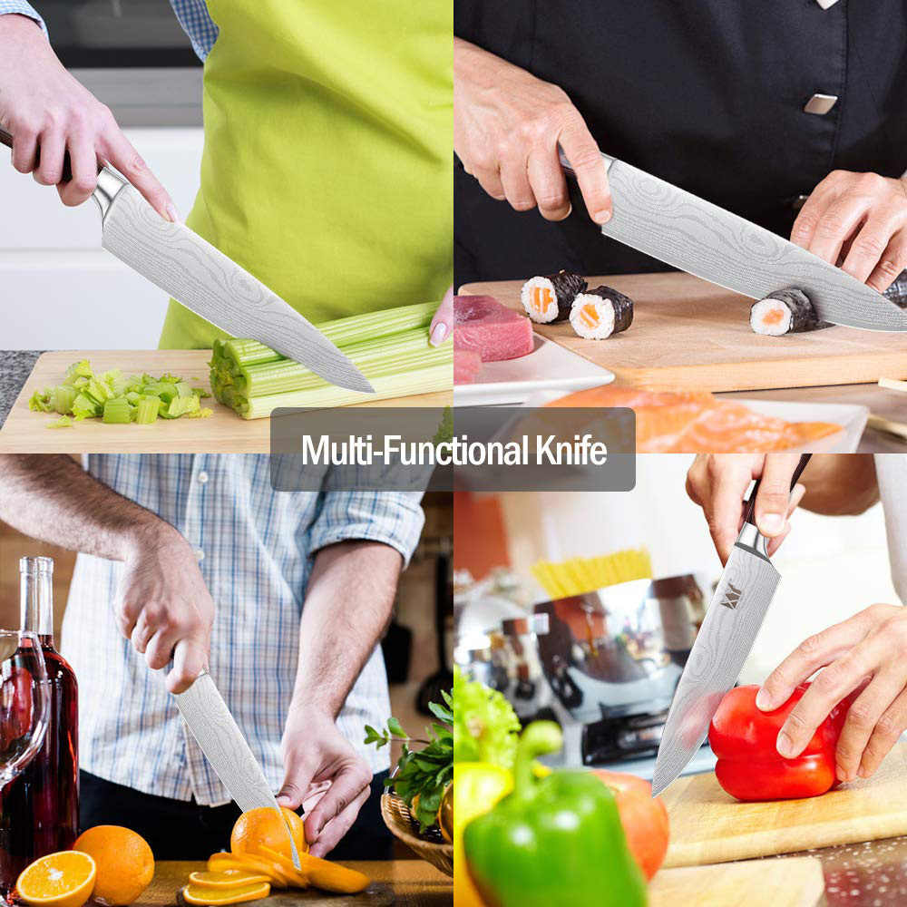 Chef Knife XYj Pro Chefs Knife Tool 8 inch 7cr17 Stainless Steel Kitchen Knife  Ergonomic Handle Gift Knife Cover Box Supplies