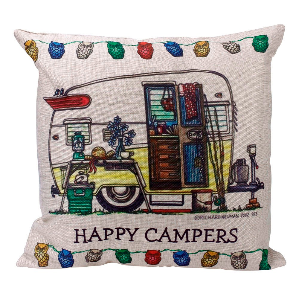 happy campers Pillow Case Sofa Waist Throw Cushion Cover Home Decor