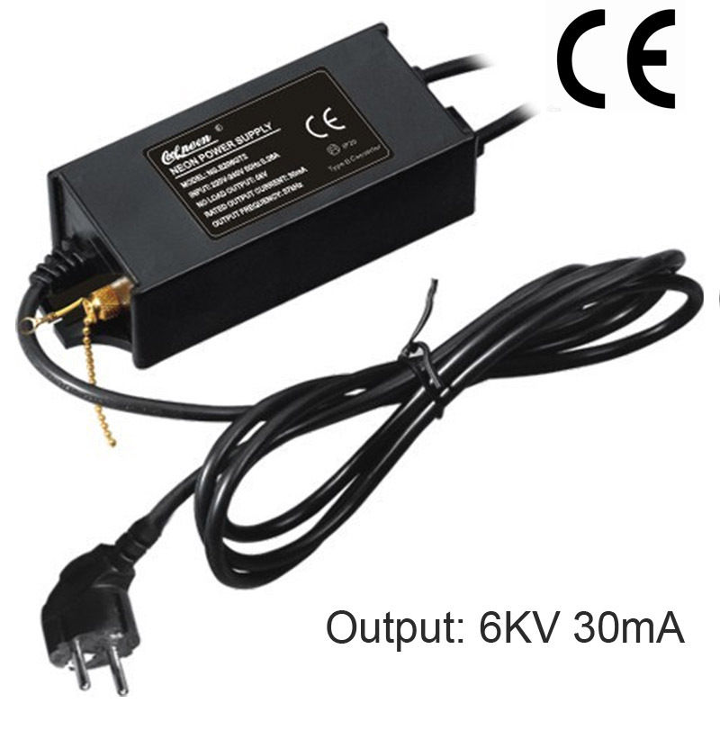 60ワットce認証ネオンライトトランス電源ネオンサイン整流電子高周波トランス6kv 30ma  グループ上の ライト & 照明 からの 照明変圧器 の中 1