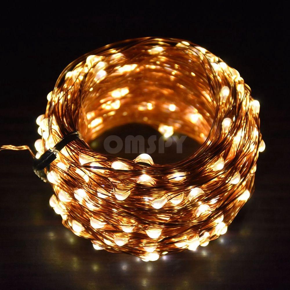 Réz String Light 10M / 20M / 30M / 50M DC12V Karácsonyi Fairy - Üdülési világítás - Fénykép 5