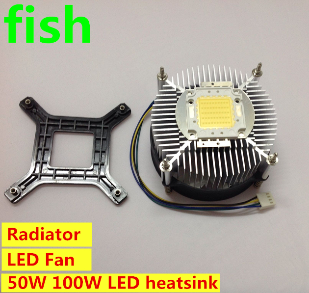 LED fan heat sink heatsink radiator DC 12V for 50W 100W high power LED light / : heatsink for led lighting - azcodes.com