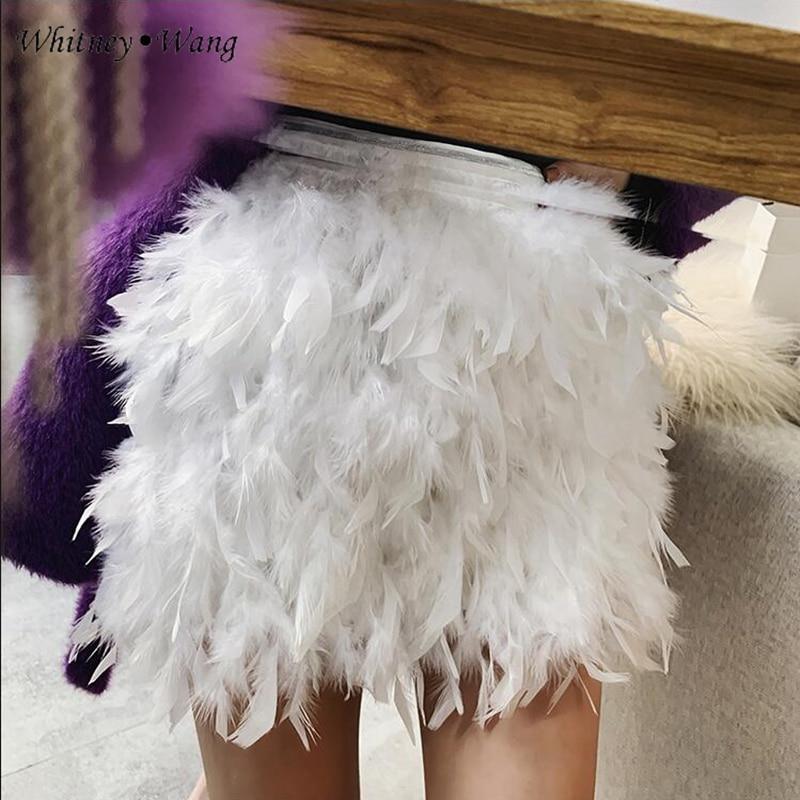 Plumas Primavera Whitney Otoño Mini Para 2019 Streetwear Mujer Wang Faldas Moda Falda 6BFqY