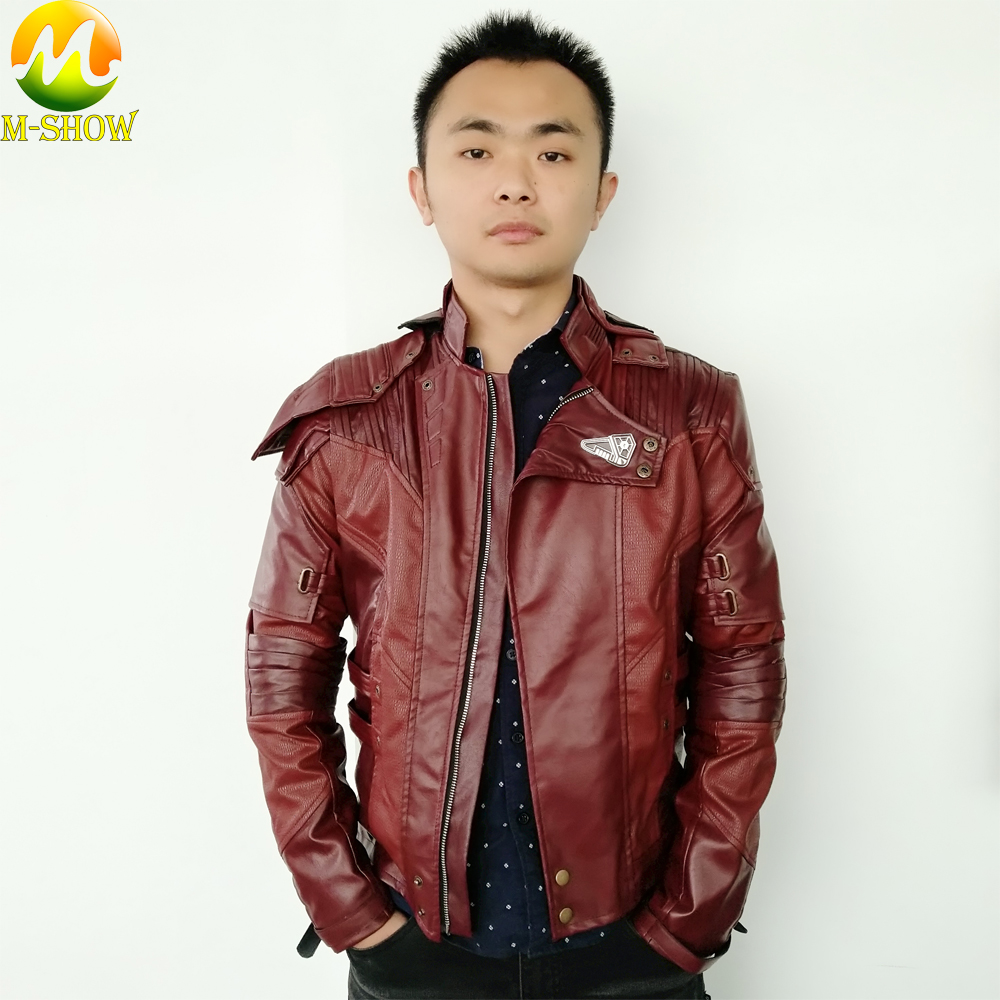 Chaqueta Star Lord Guardians of The Galaxy 2 Star Lord Cosplay Costume Cosplay Leather Coat Halloween Jacket For Men Custom Made