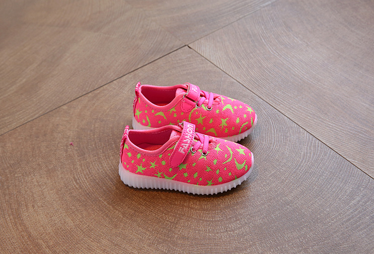17 New Kids LED Sneakers Breathable Children Sports shoes Baby boys Luminous shoes for girls shoe with light Size 21-30 12