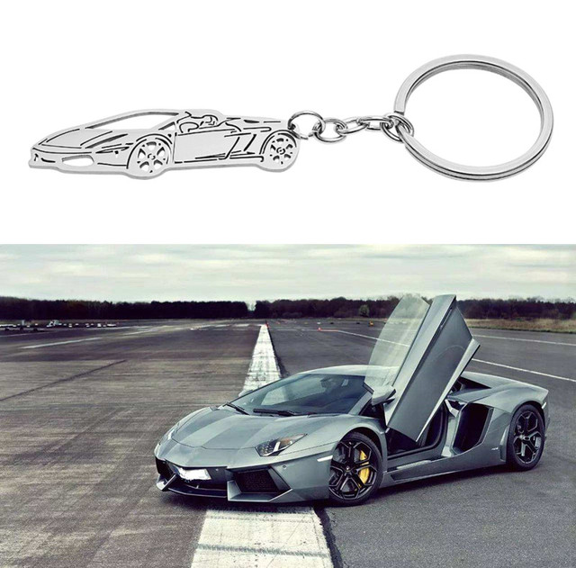 New Fashion Design 304 Grade Stainless Steel Car Key Chain Key Ring