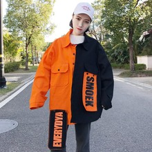 babc4f368432b BF Harajuku Bomber Veste Manteau Femmes Lâche Élégant Poche Conception  Fraîche Rouge Streetwear Vente Chaude Kpop