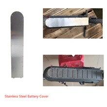 304 Нержавеющаясталь Батарея крышка Xiaomi M365 скутер снизу анти-столкновения пластина защитная пластина Защита шасси m365 скутер Запчасти