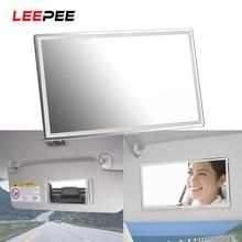 Mirrors Car-Interior-Mirror Visor Universal Auto Portable Sun-Shading LEEPEE Stainless-Steel